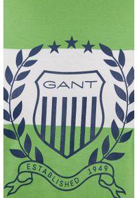 GANT - Gant - T-shirt bawełniany. Okazja: na co dzień. Kolor: zielony. Materiał: bawełna. Styl: casual
