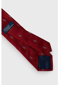 Polo Ralph Lauren - Krawat. Kolor: czerwony. Materiał: materiał