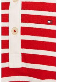 Czerwona sukienka TOMMY HILFIGER casualowa, na co dzień