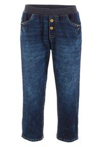 Czarne jeansy bonprix w prążki