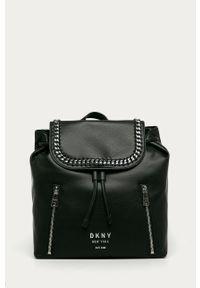 Czarny plecak DKNY z aplikacjami, elegancki