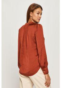 Brązowa bluzka DKNY casualowa, długa, z długim rękawem, na co dzień