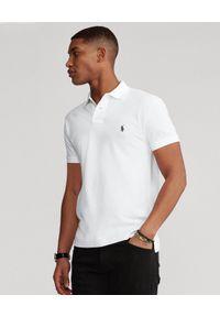 Ralph Lauren - RALPH LAUREN - Koszulka Polo Slim Fit. Typ kołnierza: polo. Kolor: biały. Materiał: bawełna. Wzór: haft, aplikacja. Styl: klasyczny