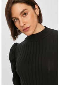 Czarny sweter Answear Lab z długim rękawem, wakacyjny