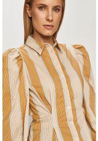 Koszula Pieces z klasycznym kołnierzykiem, z długim rękawem, casualowa, długa