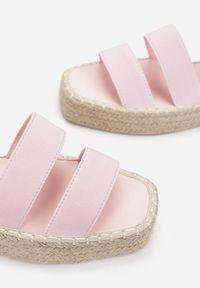 Renee - Różowe Sandały Siliche. Kolor: różowy
