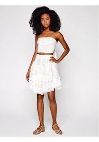 Biała spódnica mini