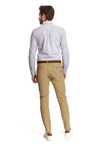TOP SECRET - Koszula we wzór o kroju regular. Kolor: szary. Materiał: bawełna. Długość: długie. Sezon: zima. Styl: klasyczny #4
