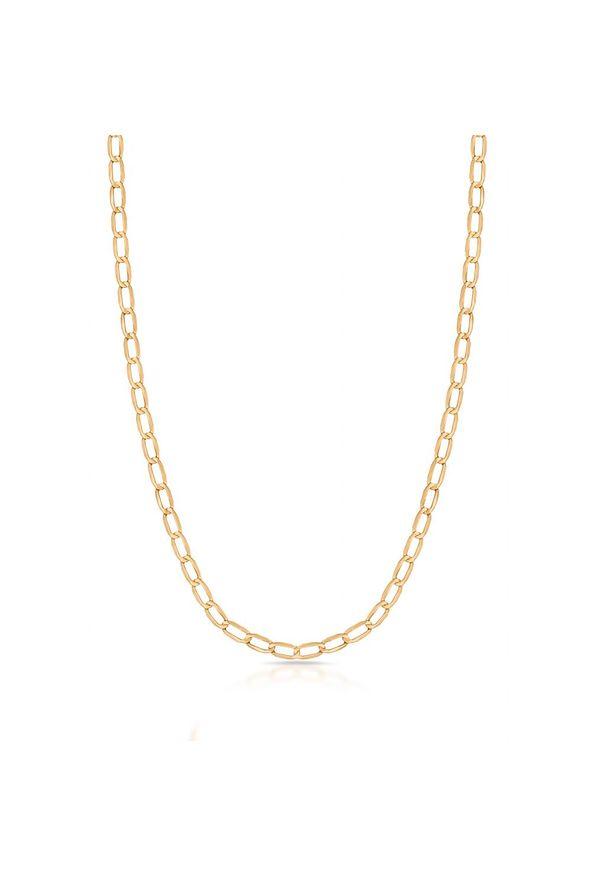 W.KRUK Wyjątkowy Łańcuszek Złoty - złoto 375 - ZUN/LP401. Materiał: złote. Kolor: złoty. Wzór: ze splotem, aplikacja