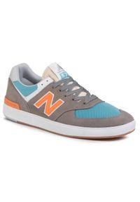 Szare sneakersy New Balance w kolorowe wzory