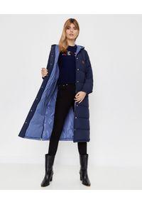 Niebieski płaszcz Kenzo na zimę, z długim rękawem, długi