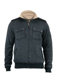 Niebieski sweter Brave Soul bez kaptura, na zimę