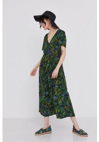 Sukienka medicine rozkloszowana, z krótkim rękawem