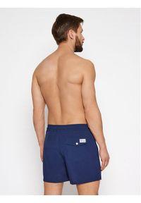 Polo Ralph Lauren Szorty kąpielowe Traveler 710837404008 Granatowy Slim Fit. Kolor: niebieski