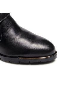 Czarne botki Marco Tozzi na średnim obcasie, na obcasie