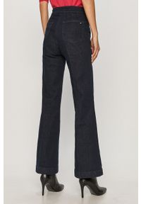Niebieskie jeansy bootcut TOMMY HILFIGER z podwyższonym stanem