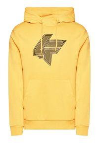 4f - 4F Bluza H4L21-BLM010 Żółty Regular Fit. Kolor: żółty