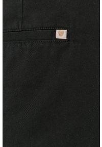 Brixton - Szorty jeansowe. Kolor: czarny. Materiał: jeans. Wzór: gładki