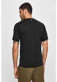 Czarny t-shirt Calvin Klein Performance z nadrukiem, casualowy