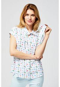 MOODO - Koszula w drobne kwiatki. Materiał: wiskoza. Długość rękawa: bez rękawów. Wzór: kwiaty