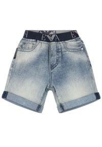 Emporio Armani Szorty jeansowe 8NHS03 4DFJZ 0941 Granatowy Regular Fit. Kolor: niebieski. Materiał: jeans