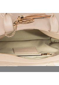 Beżowa torebka klasyczna Trussardi Jeans klasyczna