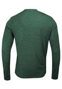 Zielony T-shirt (Koszulka), Długi Rękaw, Longsleeve -Brave Soul- Męski, Termoaktywny, Wyszczuplający. Okazja: na co dzień. Kolor: zielony. Materiał: poliester, elastan. Długość rękawa: długi rękaw. Długość: długie. Styl: sportowy, casual