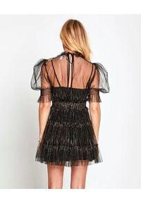 ALICE MCCALL - Czarna sukienka Augustine. Kolor: czarny. Materiał: materiał. Wzór: aplikacja. Długość: mini