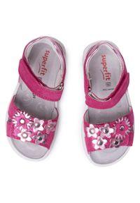 Różowe sandały Superfit na co dzień, z aplikacjami, casualowe #7
