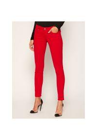 Czerwone jeansy slim Pepe Jeans