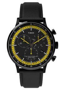 Timex - Zegarek TW2U04800. Rodzaj zegarka: cyfrowe. Kolor: czarny. Materiał: koronka, skóra, materiał