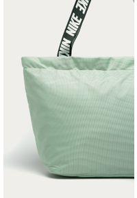 Zielona shopperka Nike Sportswear duża, na ramię
