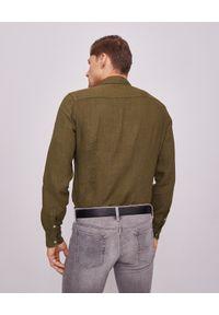 FAY - Zielona koszula z lnu. Kolor: zielony. Materiał: len. Długość rękawa: długi rękaw. Długość: długie. Wzór: aplikacja. Styl: wakacyjny #7