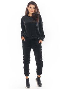 Czarne spodnie dresowe Awama