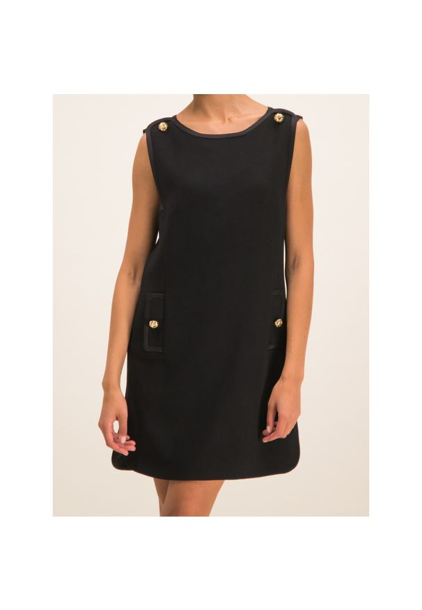 Czarna sukienka koktajlowa Luisa Spagnoli wizytowa