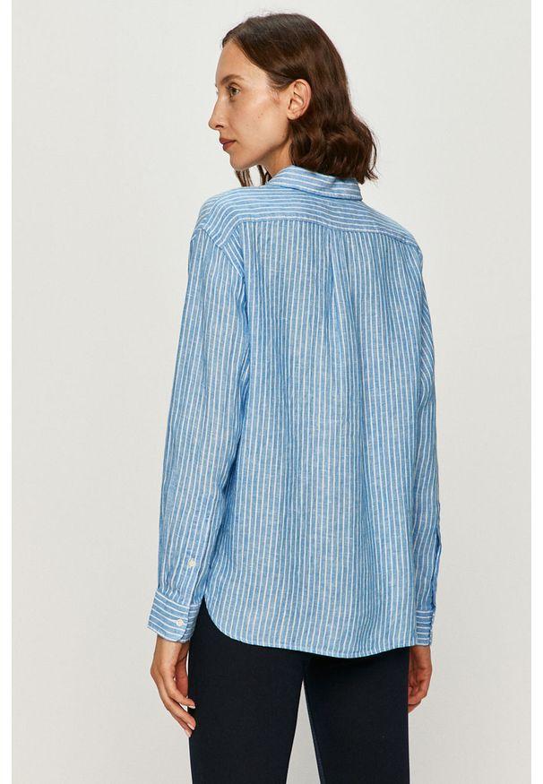 Niebieska koszula Polo Ralph Lauren na co dzień, z klasycznym kołnierzykiem