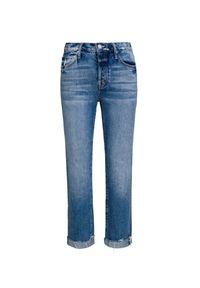 Niebieskie spodnie Mother w kolorowe wzory, na lato #1