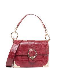 Czerwona torebka klasyczna Trussardi Jeans klasyczna