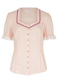 Różowa bluzka bonprix w kropki