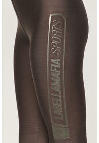 LABELLAMAFIA - LaBellaMafia - Biustonosz sportowy i legginsy. Kolor: szary. Materiał: dzianina