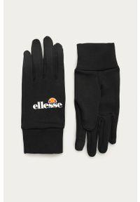 Czarne rękawiczki Ellesse z nadrukiem