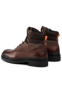 Brązowe buty zimowe Nobrand z cholewką #7