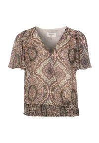 Freequent Bluzka kopertowa we wzory Nady różowy we wzory female różowy/ze wzorem XL (44). Kolor: różowy. Materiał: tkanina. Długość: krótkie. Wzór: gładki