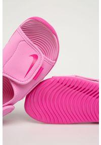 Różowe sandały Nike Kids na rzepy