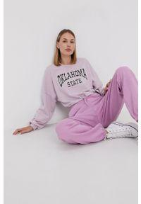 Vero Moda - Spodnie. Kolor: różowy. Materiał: dzianina, materiał. Wzór: gładki