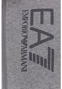 EA7 Emporio Armani - Bluza. Okazja: na co dzień. Kolor: szary. Wzór: nadruk. Styl: casual