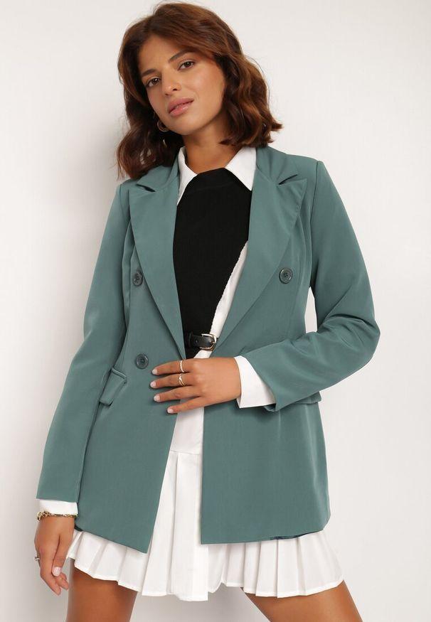 Renee - Zielona Marynarka Cileia. Kolor: zielony. Styl: glamour, klasyczny