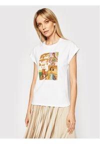 Marella T-Shirt Giulia 39410512200 Biały Regular Fit. Kolor: biały