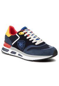 Blauer - Sneakersy BLAUER - S1HILO01/SME Fan/Nvy Fantasy/Navy. Kolor: niebieski. Materiał: materiał, zamsz, skóra. Szerokość cholewki: normalna