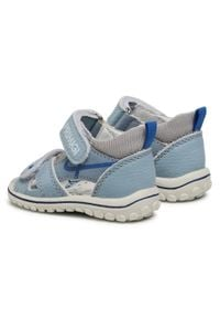 Primigi - Sandały PRIMIGI - 7375011 Ciel. Kolor: niebieski. Materiał: skóra, materiał